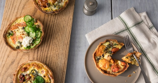 Quiche Tarts with 3 Fillings