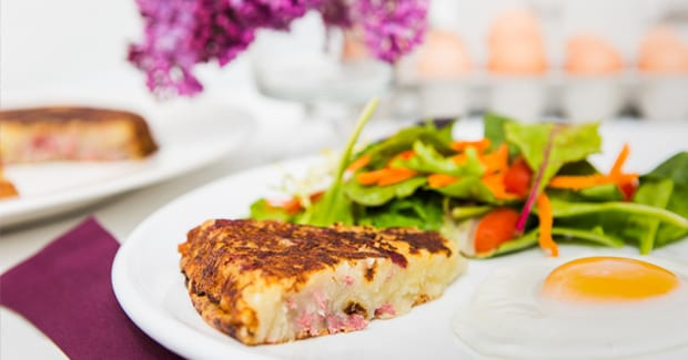 Corned Beef Hash Cake Hand Blender Recipe