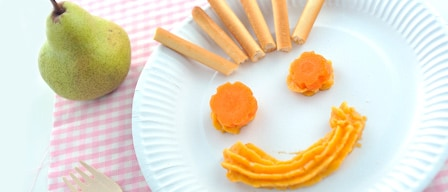 Plate of smiling food