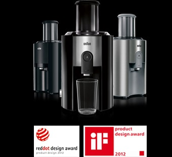 Reddot and iF product design award for Braun Multiquick juicer range