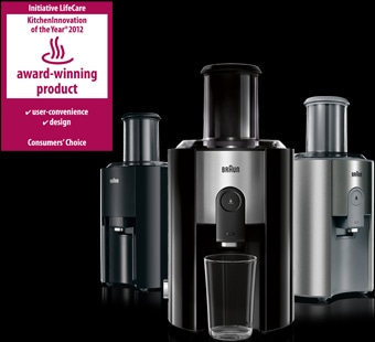 'KitchenInnovation of the Year 2012' award for Braun Multiquick juicer range