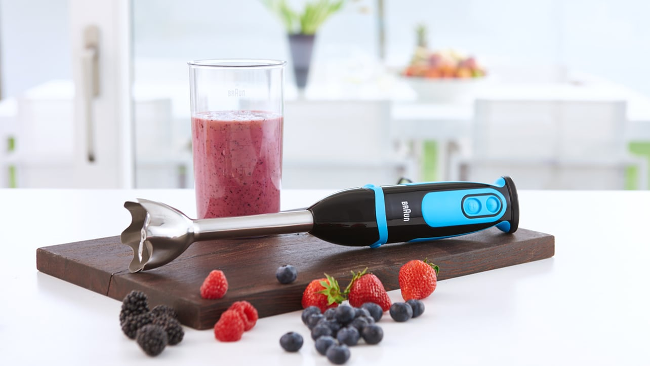 Braun MultiQuick 5 Spiralizing Hand Blender MQ5064BK fruit smoothie