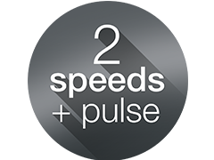 2 speed modes + auto pulse