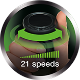 Variable one-hand speed wheel