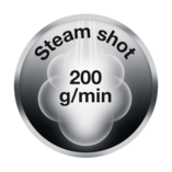 Powerful steam shot
