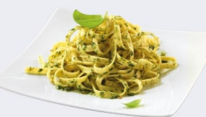 Linguine with a Green Olive, Lemon and Caper Sauce