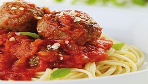 Meatballs with Linguine