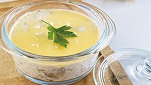 Ricotta-Pilz-Suppe