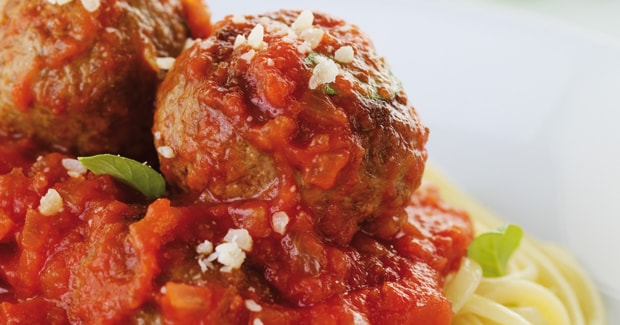 Meatballs with linguine (Marc Fosh)