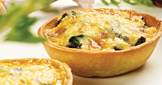 Mushroom and spinach tartlets (Marc Fosh)