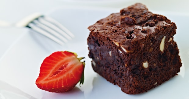 Dark chocolate brownie (Marc Fosh)