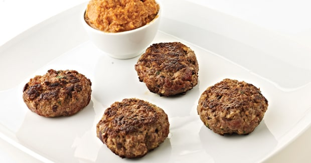 Beef and olive rissoles (Marc Fosh)