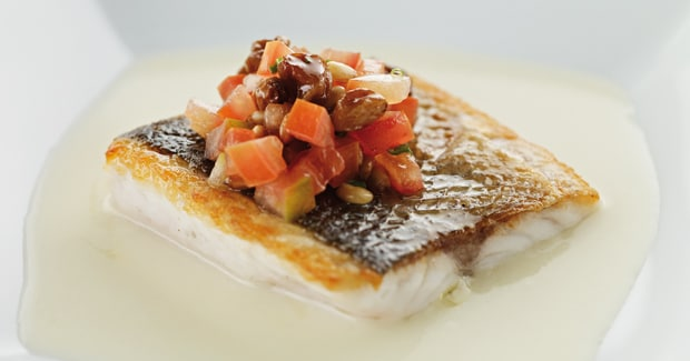Spanish style sea bass (Marc Fosh)