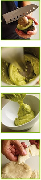 Avocado and lime dip