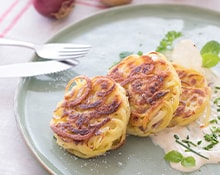 Create a Potato noodle pancake served with herb quark with the Braun MQ5