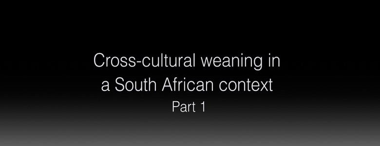 Cross-cultural weaning in a South African context part 2
