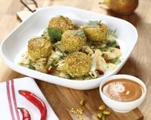 Chicken Meatballs with Fennel Slaw