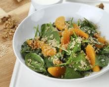 Baby Spinach, Quinoa, Orange & Walnut Salad