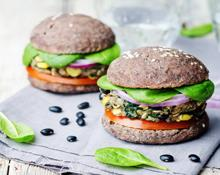Black Bean Burgers Hand Blender Recipe
