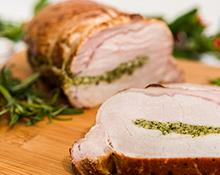 Garlic Stuffed Pork Loin