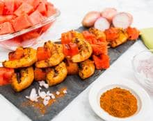 Cajun Shrimp & Watermelon Skewers