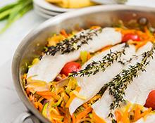 Steamed White Fish & Vegetables
