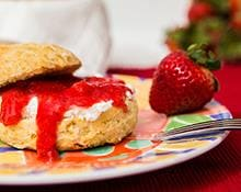 Strawberry Shortcake with Creme Anglaise Hand Blender Recipe