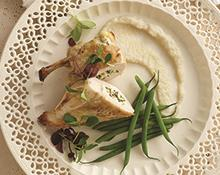 Stuffed Chicken with Jerusalem Artichoke Purée