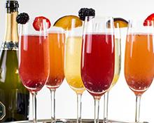 Three Fruity Prosecco or Champagne Cocktails
