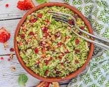 Cranberry Pecan Brussel Sprouts Salad