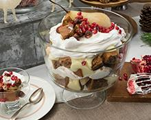 Gingerbread Trifle with Pears and Brandy Custard