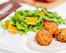 Falafel with Tahini Dressing Hand blender recipe