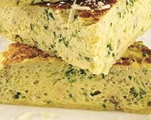 Grated Zucchini, Ricotta and Fresh Herb Frittata