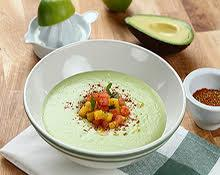 Chilled Avocado & Cilantro Soup