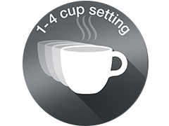 1-4 cup setting