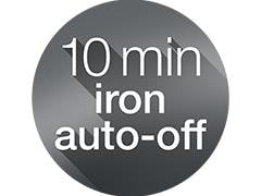 Iron auto-off function for enhanced safety and optimum energy efficiency
