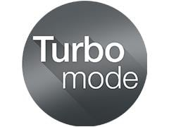 Turbo mode for easy ironing of toughest fabrics
