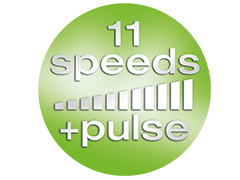 11 speeds with pulse function
