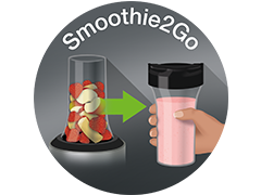 Smoothie2Go cups (x2)