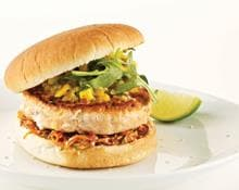 Salmon burger (Marc Fosh)