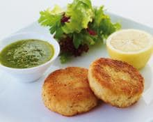 Salmon fishcakes (Marc Fosh)