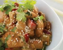 Stir fried lemon and coriander chicken (Marc Fosh)