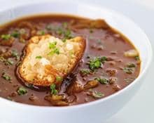 Caramelised onion soup (Marc Fosh)