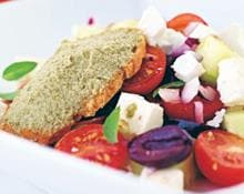 Tomato and feta salad (Marc Fosh)