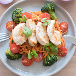 Carrot Noodles with Chicken