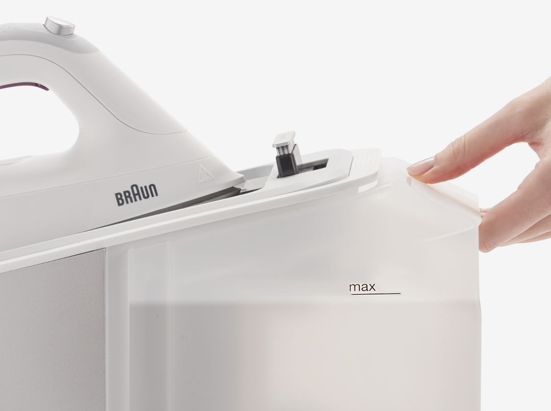 Braun CareStyle 7 with an extra large removable water tank.