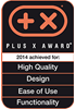 Braun IdentityCollection Plus X Award 2014 achieved for HQ, Design, Ease of use and Functionality