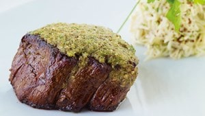 Filetsteak mit Sellerie-Apfel-Remoulade