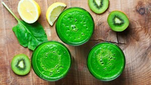 Frisse kiwi-spinazie-smoothie