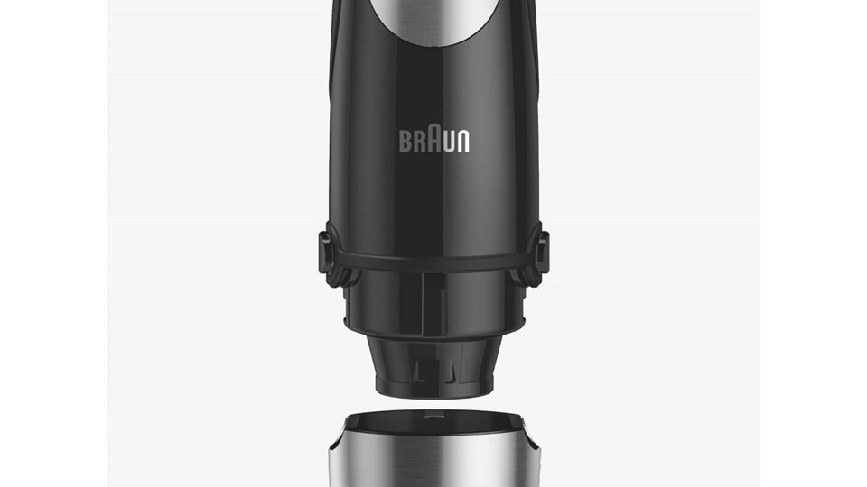 Braun MultiQuick 9X Hand blender with a high-performance 1200-watt motor and ActivePowerdrive